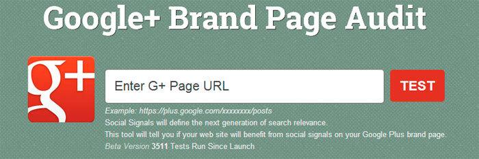 Google plus brand page audit