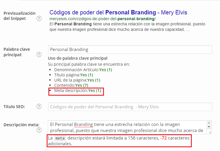 metadescripción con seo by yoast 4