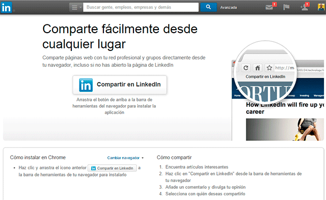 bookmarklet linkedin